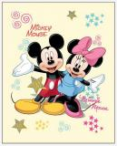 Fleece deka Mickey a Minnie 120/150