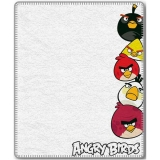 Fleece deka Angry Birds White 120/150
