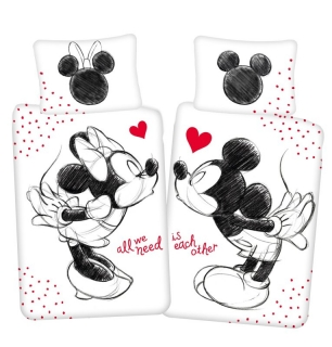 Povlečení Mickey a Minnie All We Need 140/200, 70/90