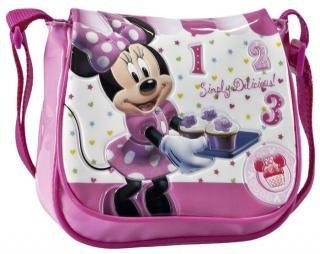 Malá kabelka na rameno Minnie Pink se zavírá na